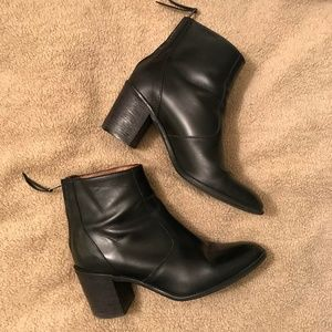 Madewell The Ames Boot Black Chunky stacked heel